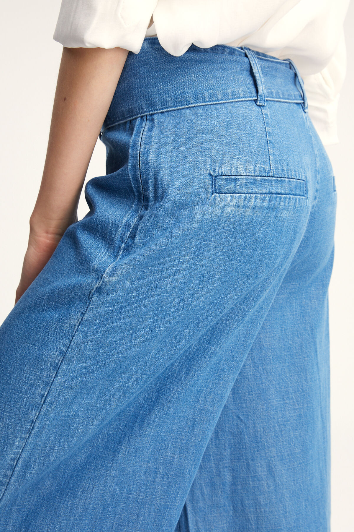 PALAZZO Light Wash Indigo Denim - Wide Leg