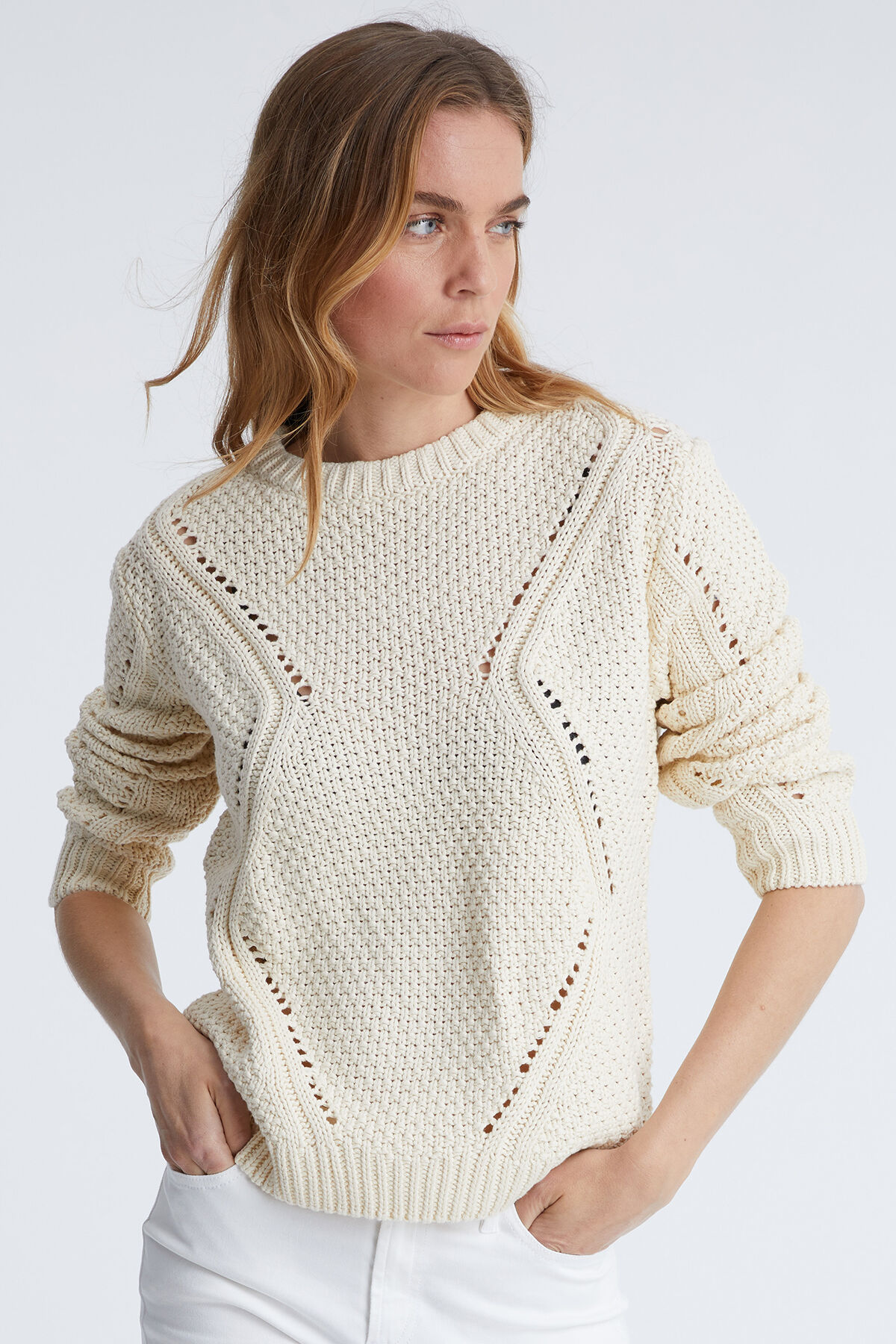 OAKFIELD JUMPER Chunky Cotton Yarn - Relaxed Fit