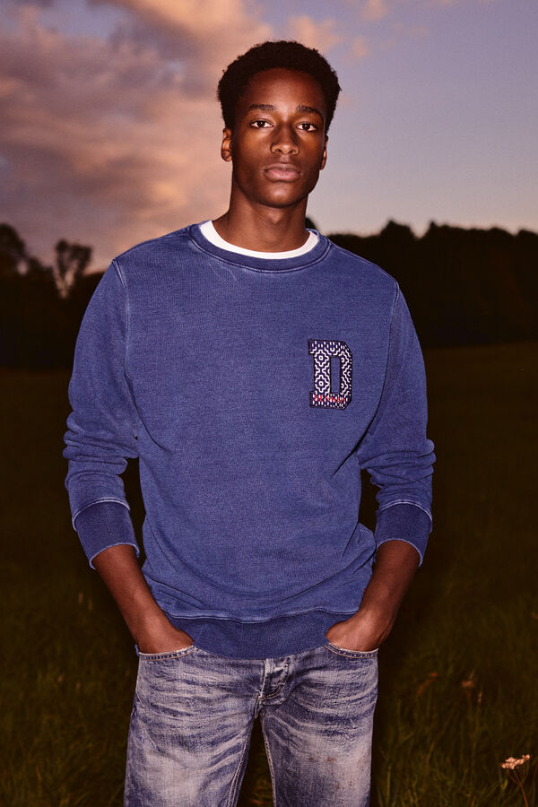 1 SWEATSHIRT Indigo Boro patch - Boxy Fit