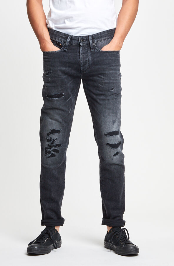 RAZOR Heavy worn-in Rip & Repair - Slim Fit