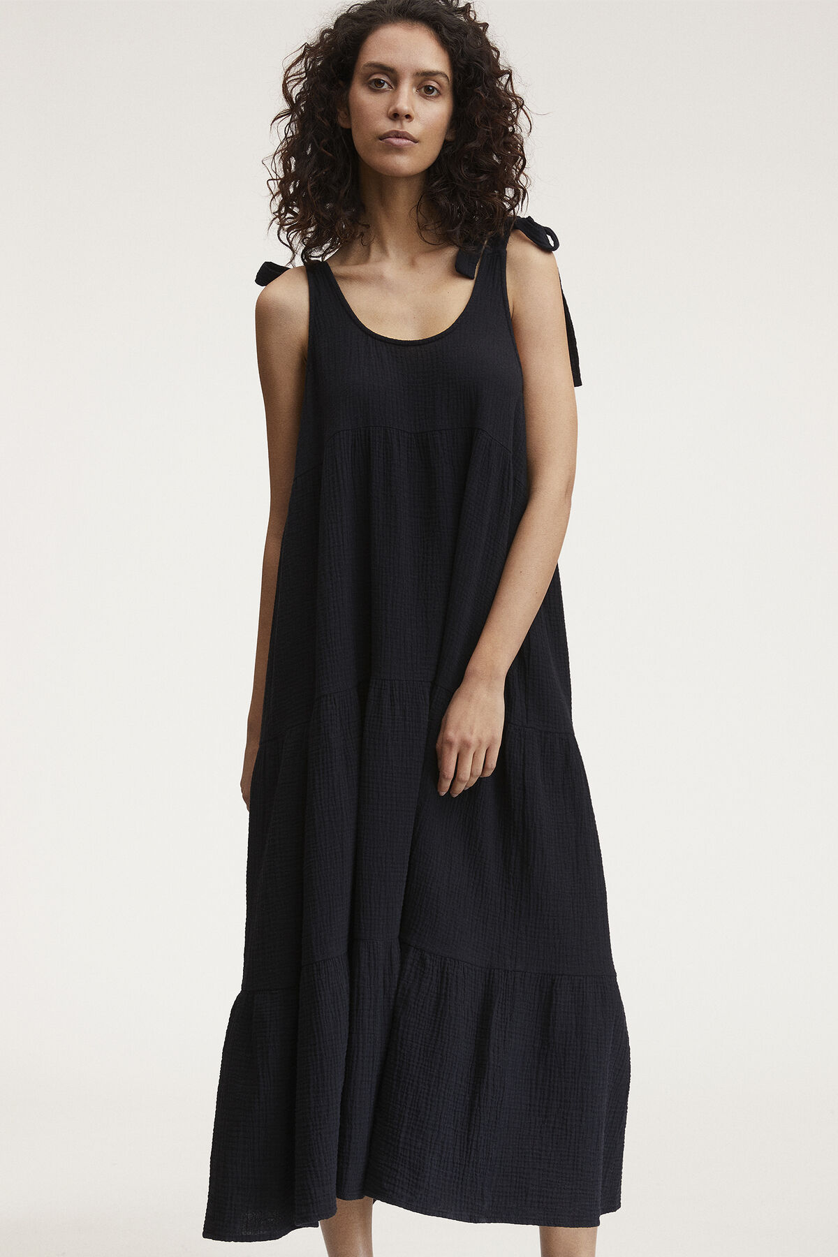 VERONICA DRESS Double Gauze Cotton - Maxi