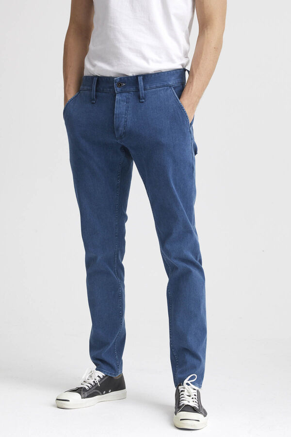 YORK Stonewashed Denim - Slim, Tapered Fit