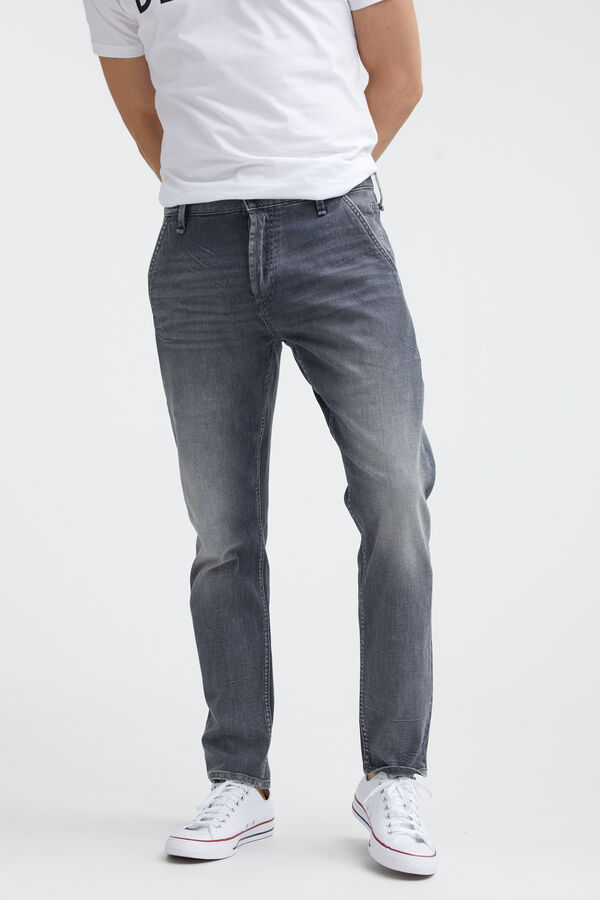 OSAKA PANT Grey cast, lightweight Denim - Loose, Tapered Fit