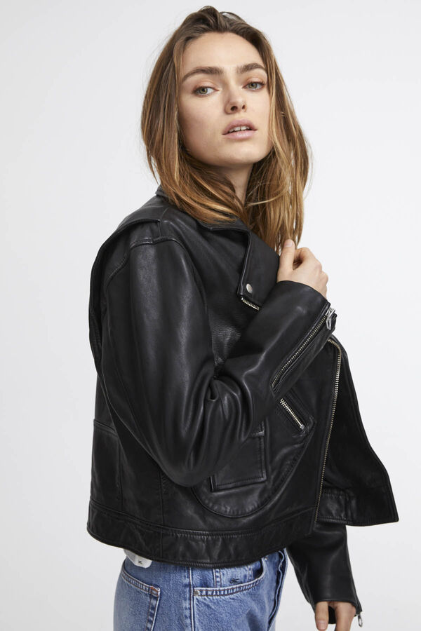HANOVER BIKER Textured Leather - Relaxed Fit