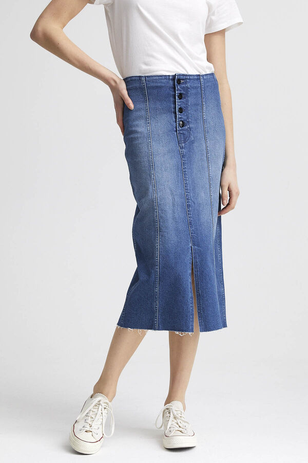 70s LONG SKIRT Denim - Maxi