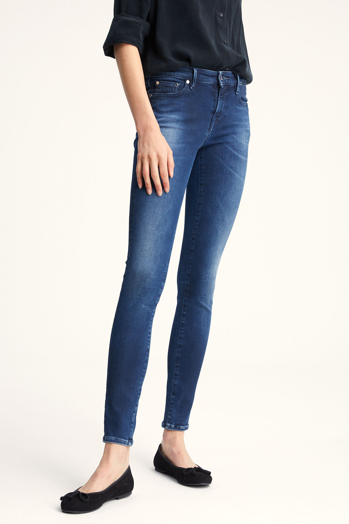 SPRAY Three-Year Indigo Denim  - Mid-rise, Tight FIt