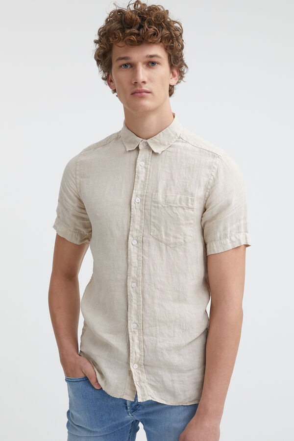 HARRISON Short Sleeves Linen Shirt - Slim Fit