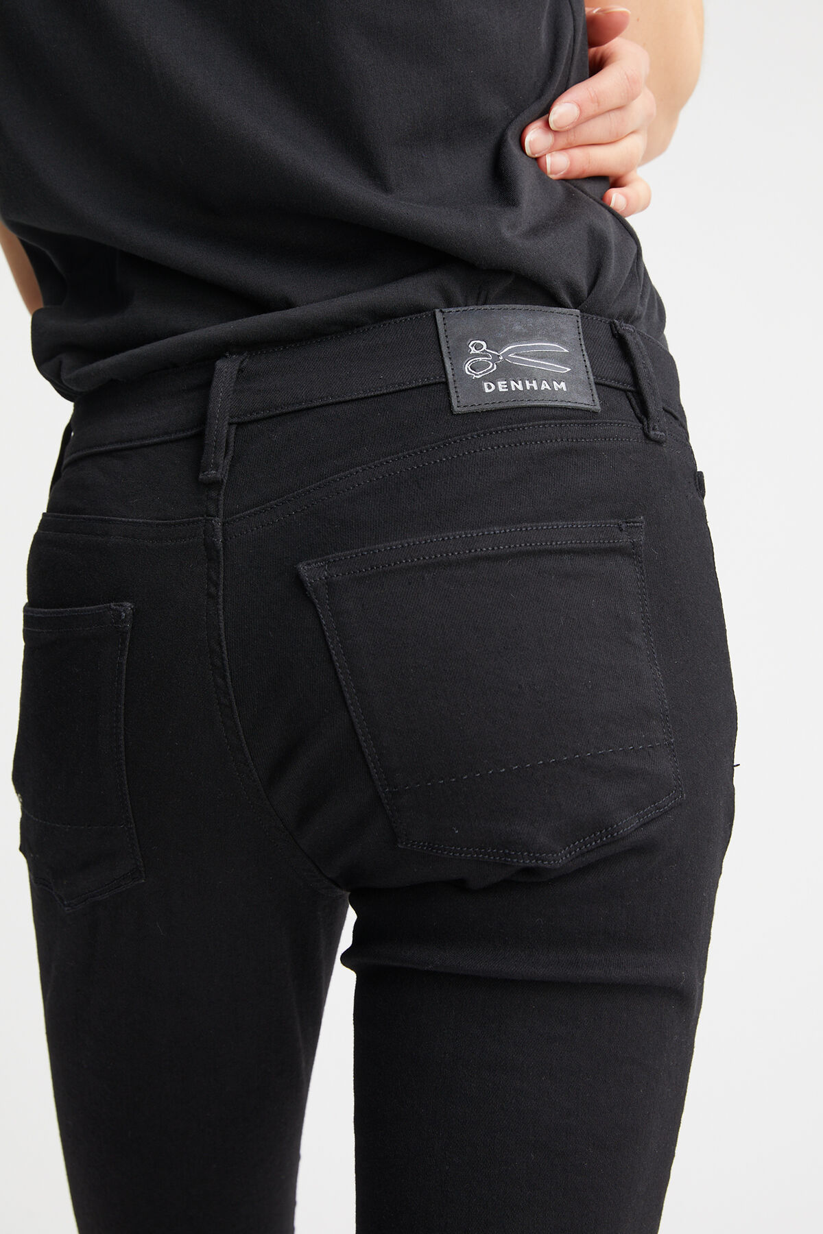 SPRAY Strech Black Denim - Mid-Rise, Tight Fit