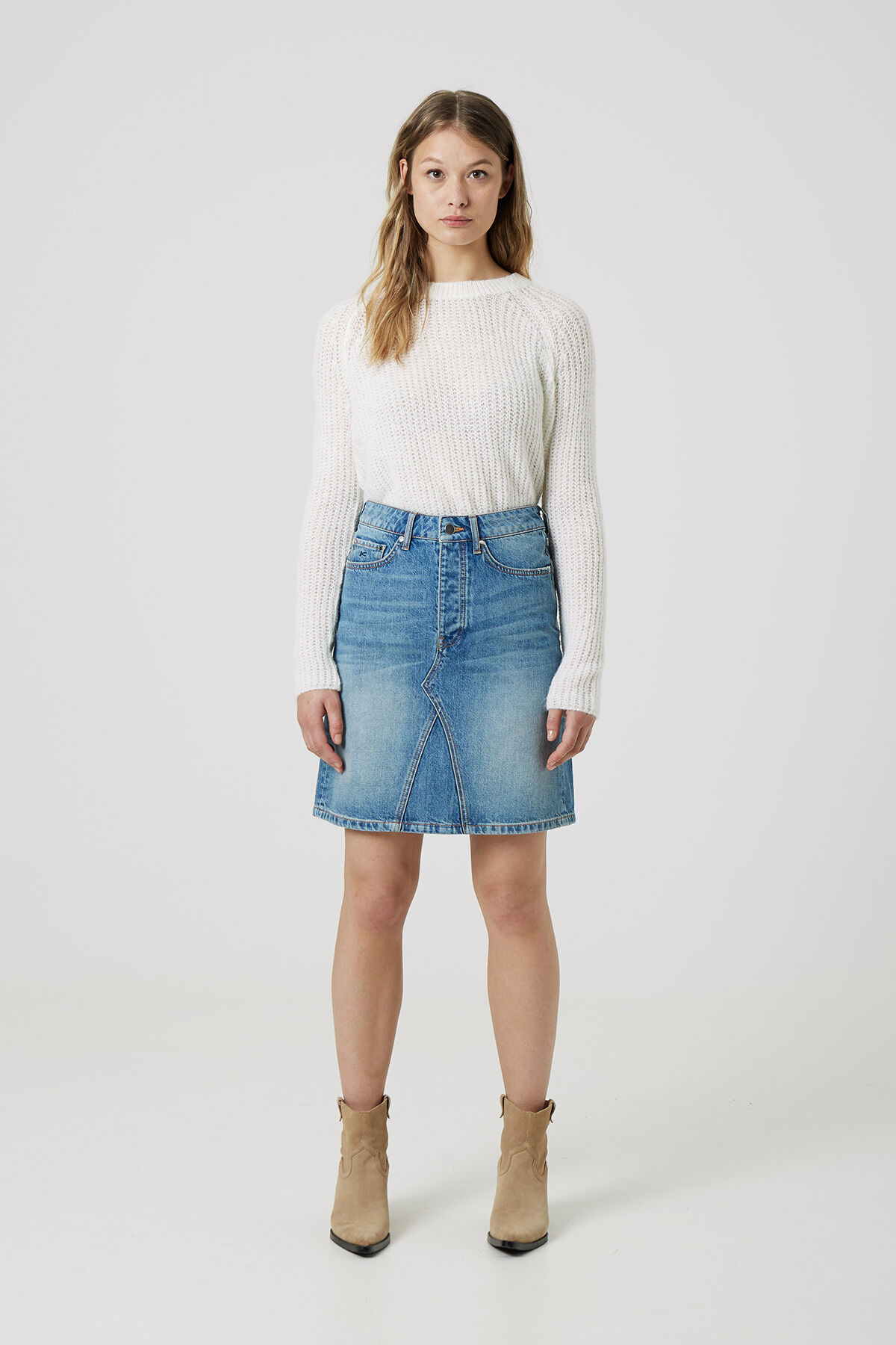 PIPER SKIRT Washed Indigo - A-line