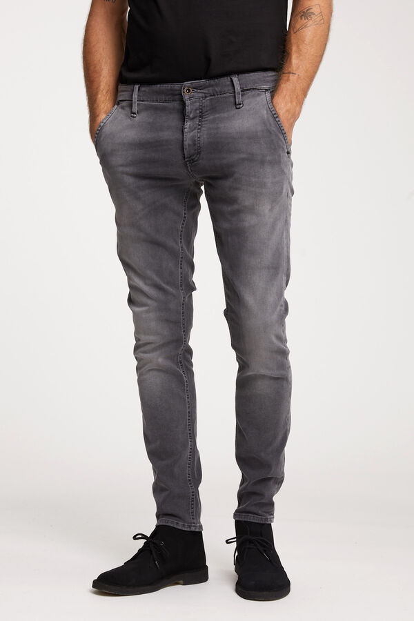 YORK Mid-grey Soft worn - Slim Tapered Fit