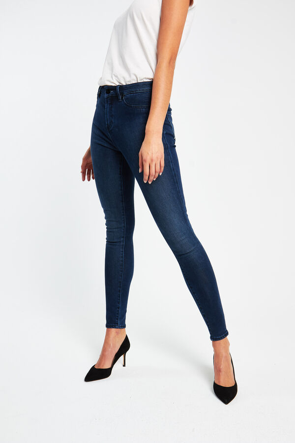 NEEDLE Indigo Tencel denim - High-rise, Skinny Fit