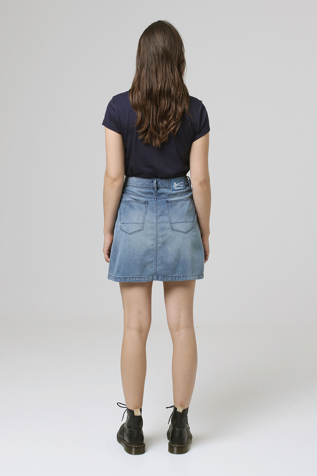 SAND SKIRT Tencel-Denim Blend - Mini