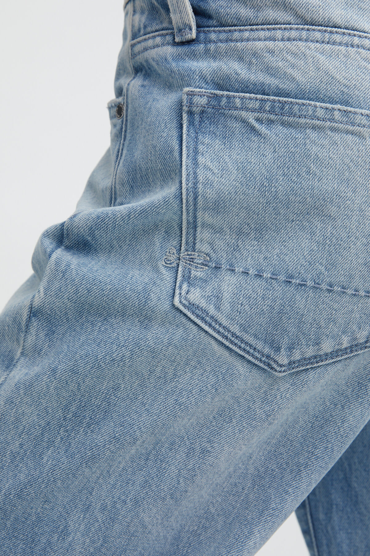 BARDOT STRAIGHT Stonewashed Denim - High-rise, Straight Fit