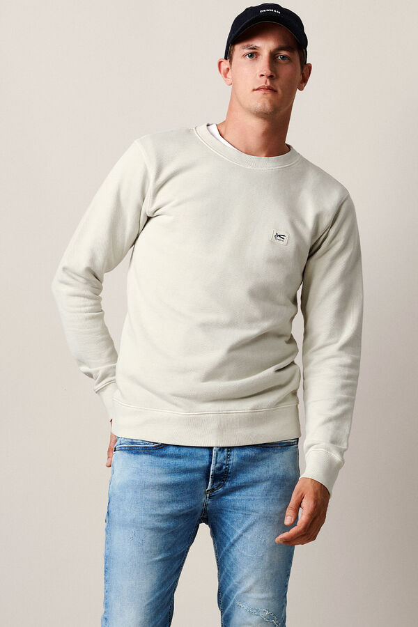 DENHAM APPLIQUE SWEAT Soft Cotton Fleece -