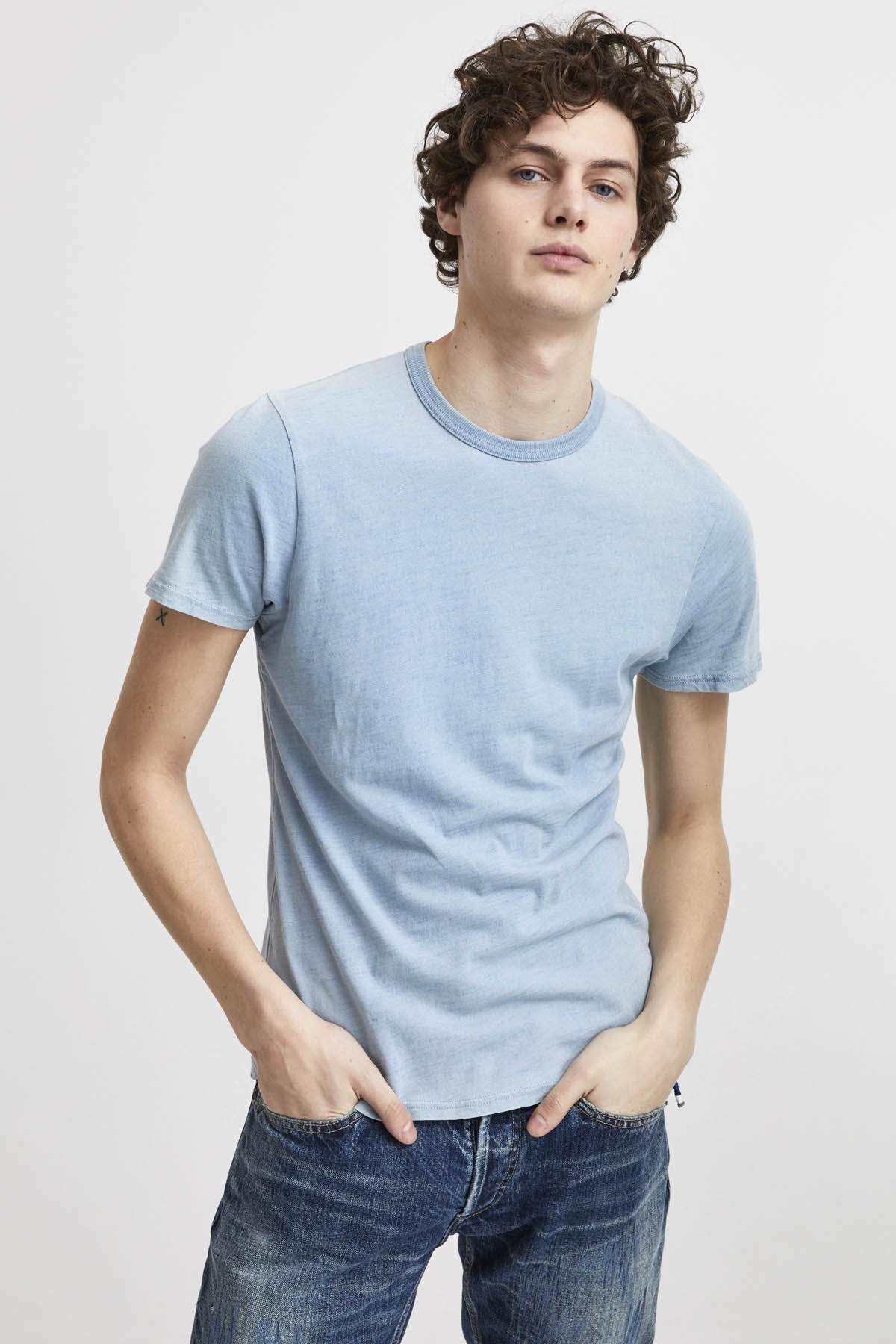 BOUND CREW TEE Cotton Jersey - Slim Fit