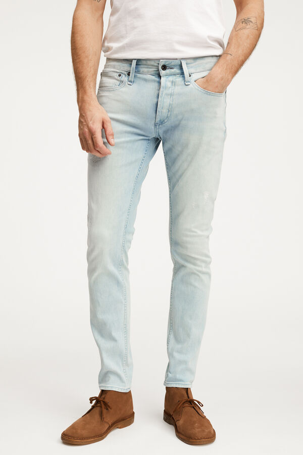 BOLT Light Blue, Rip & Repair Denim - Skinny Fit