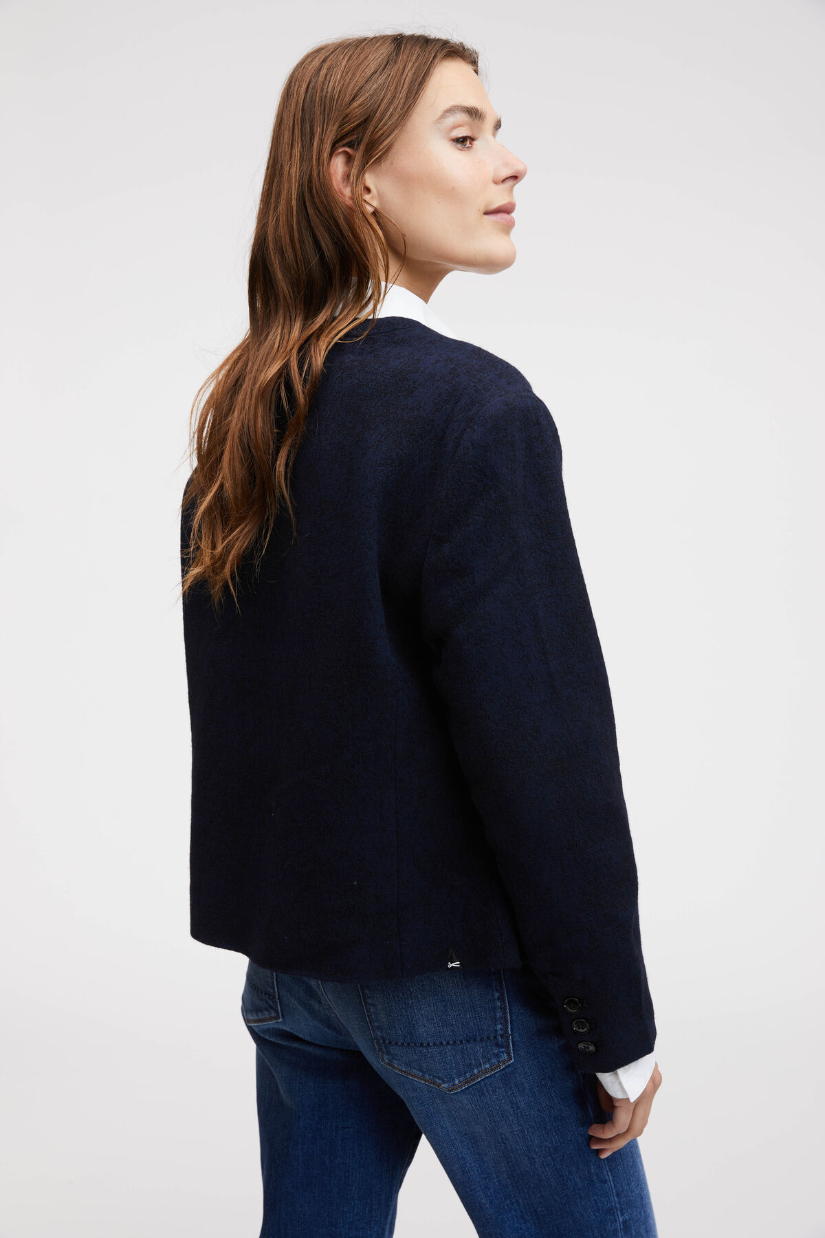 KATE BOUCLE JACKET THICK TEXTURED FABRIC - Oversized Fit