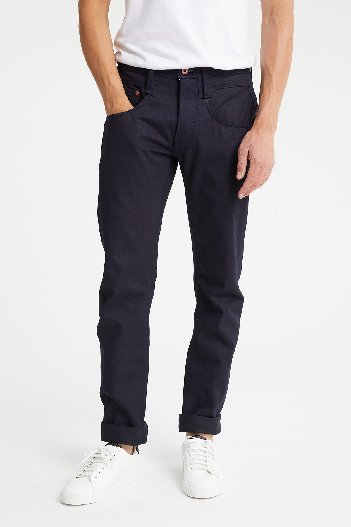 CROSSBACK Double-Dyed Virgin Indigo Denim - Carrot Fit