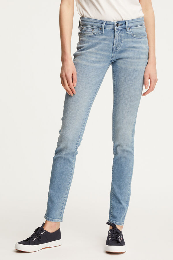 SHARP Light Blue Denim - Mid-Rise, Skinny Fit