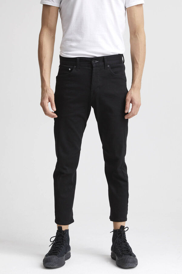 FUSION Pure Black Finish Denim - Tapered Fit