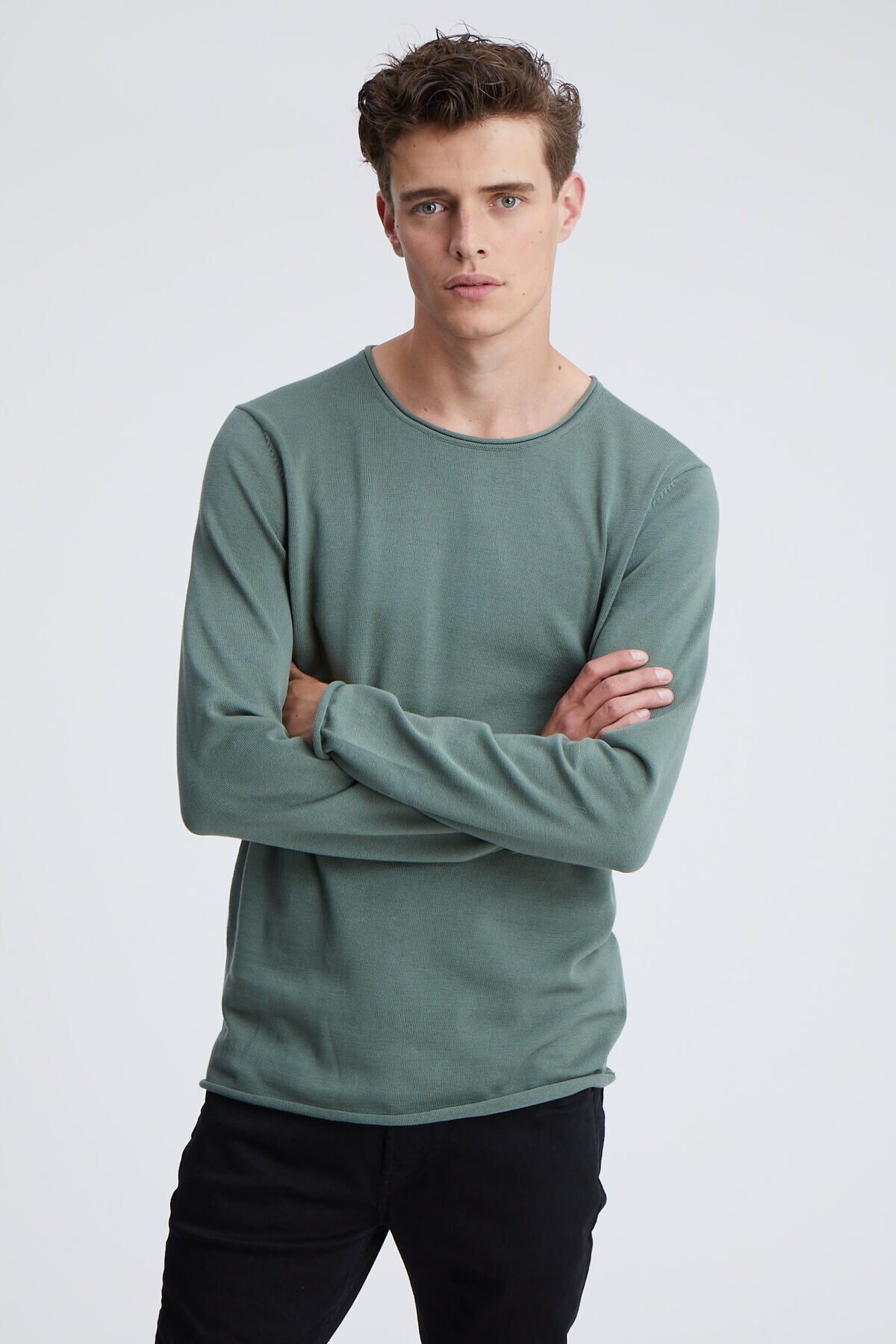 INGO KNIT RAW EDGE Cotton Yarn - Regular Fit