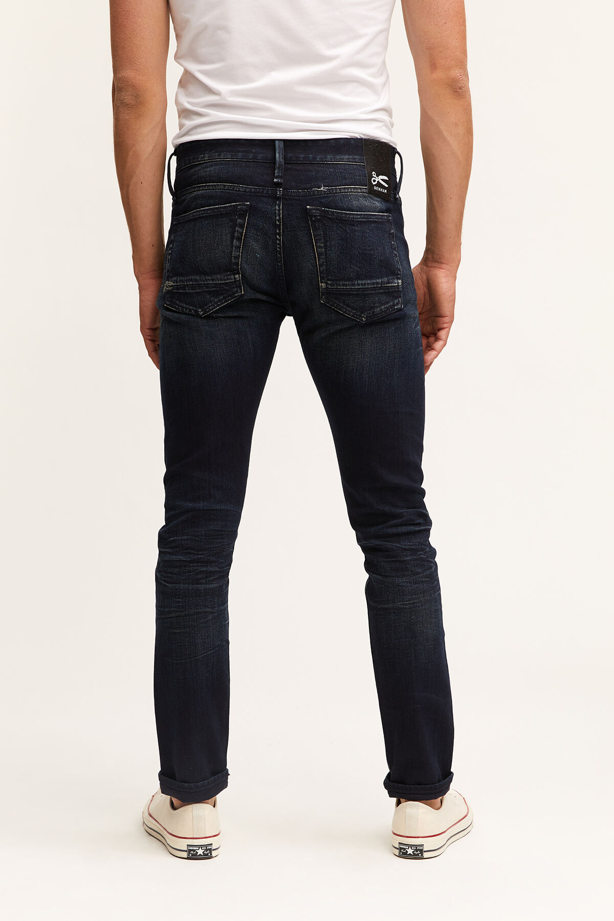 BOLT Made in Italy, Aged Blue-Black Denim - Skinny Fit
