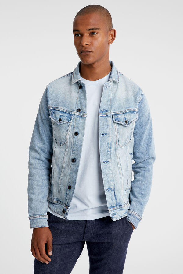 AMSTERDAM POCKET Washed-out Denim - Slim Fit