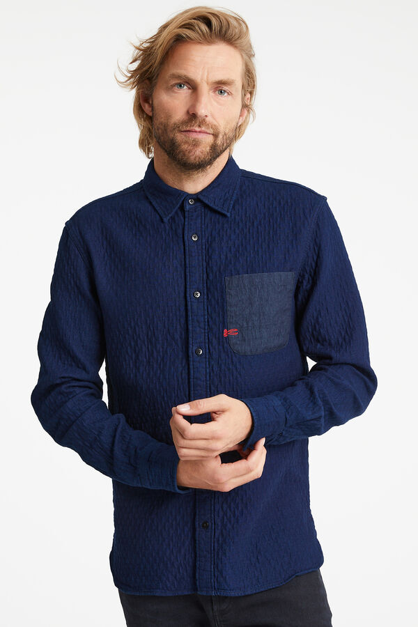IRWIN Shirt Special indigo weave - Regular Fit