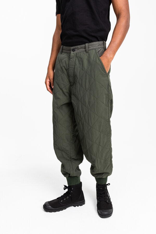 PAD PANT Technical cotton/nylon blend - Wide, Tapered Fit