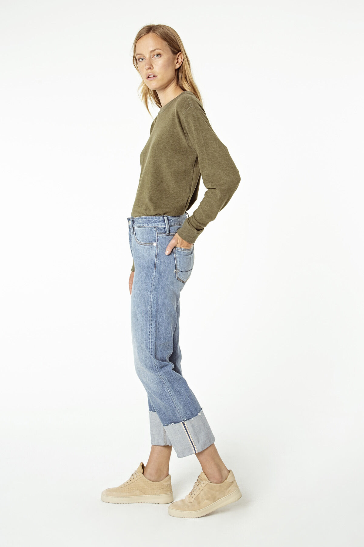 KELLY Selvedge Stonewashed denim - Wide Leg Fit