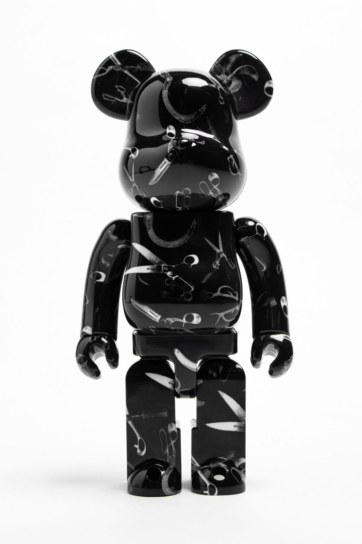 BEARBRICK MEDIUM + SMALL Scissor All-Over Print