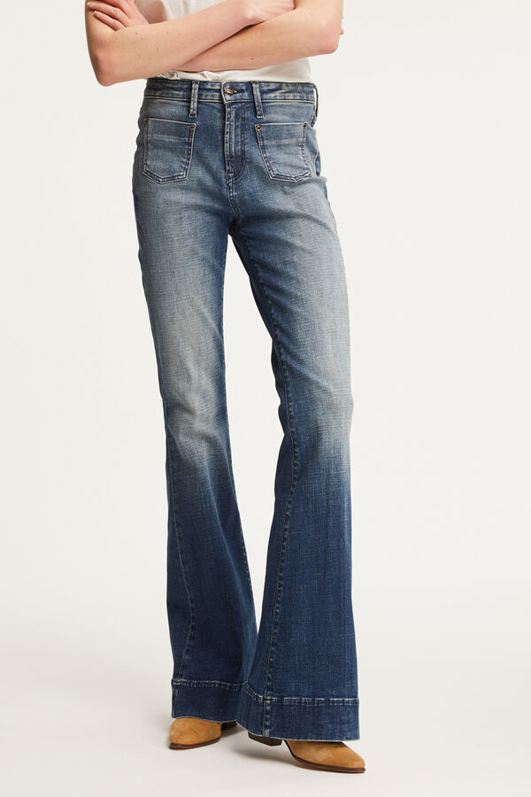 JANE 2 POCKET Vintage '70s Indigo Denim - Flare Fit