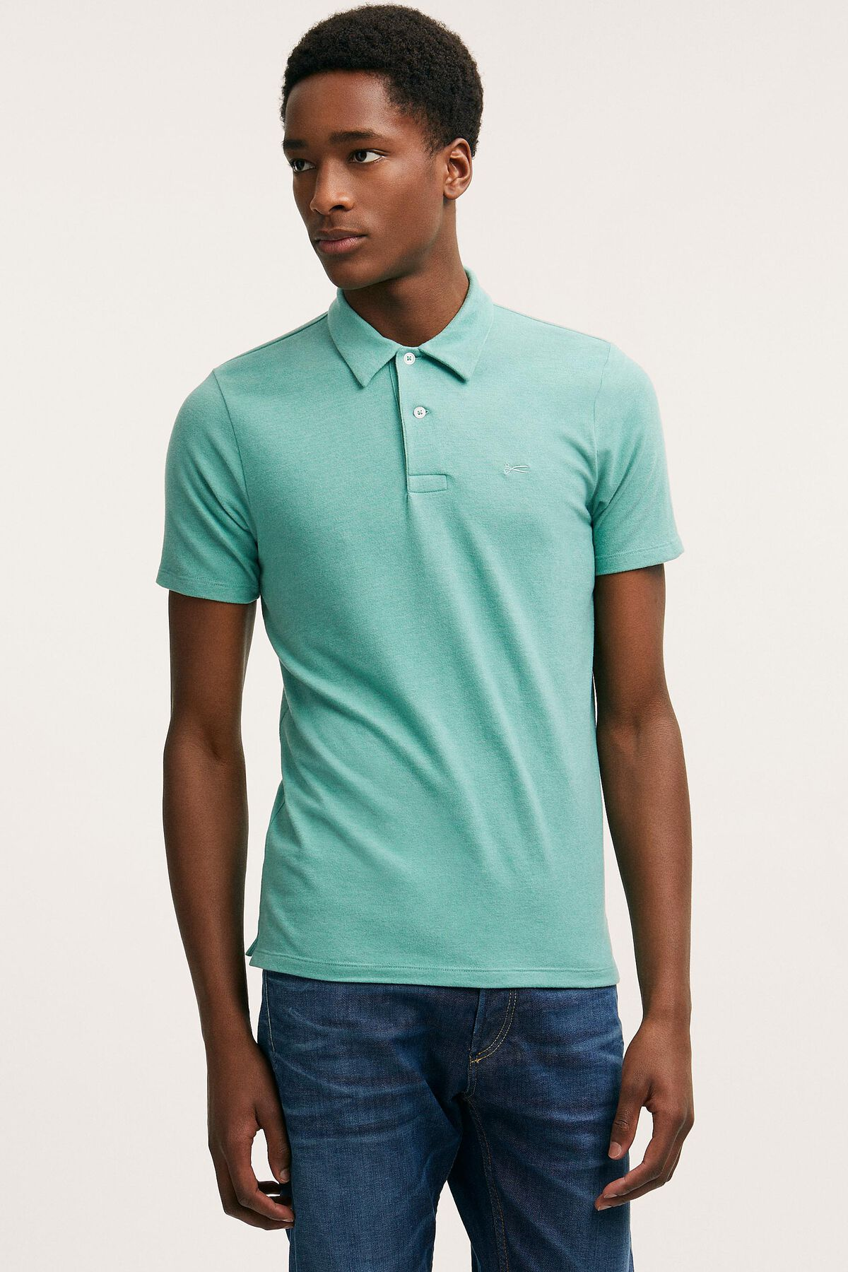 GARY POLO Light Cotton Melange Jersey - Slim Fit