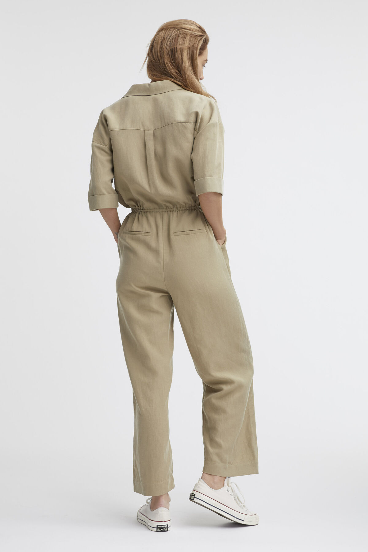 HEWITT JUMPSUIT Linen & Poplin Blend - Relaxed Fit