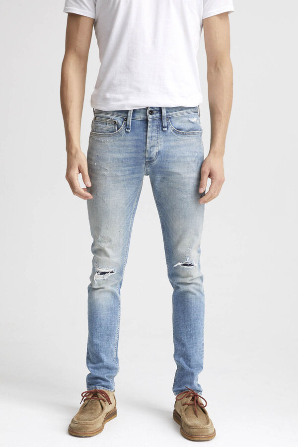 BOLT Ripped & Repaired Denim - Skinny Fit