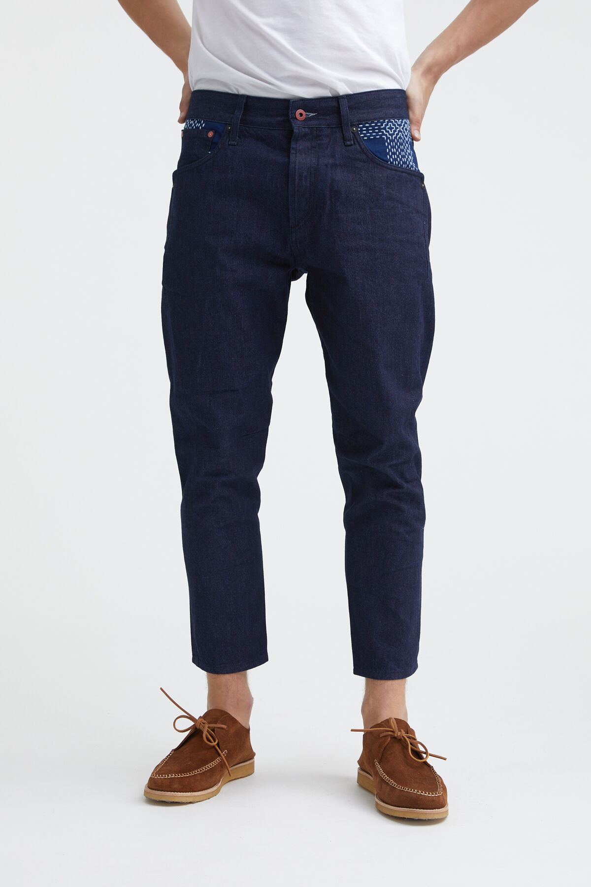 FUSION 1MIX Boro Recycled Denim - Cropped, Tapered fit