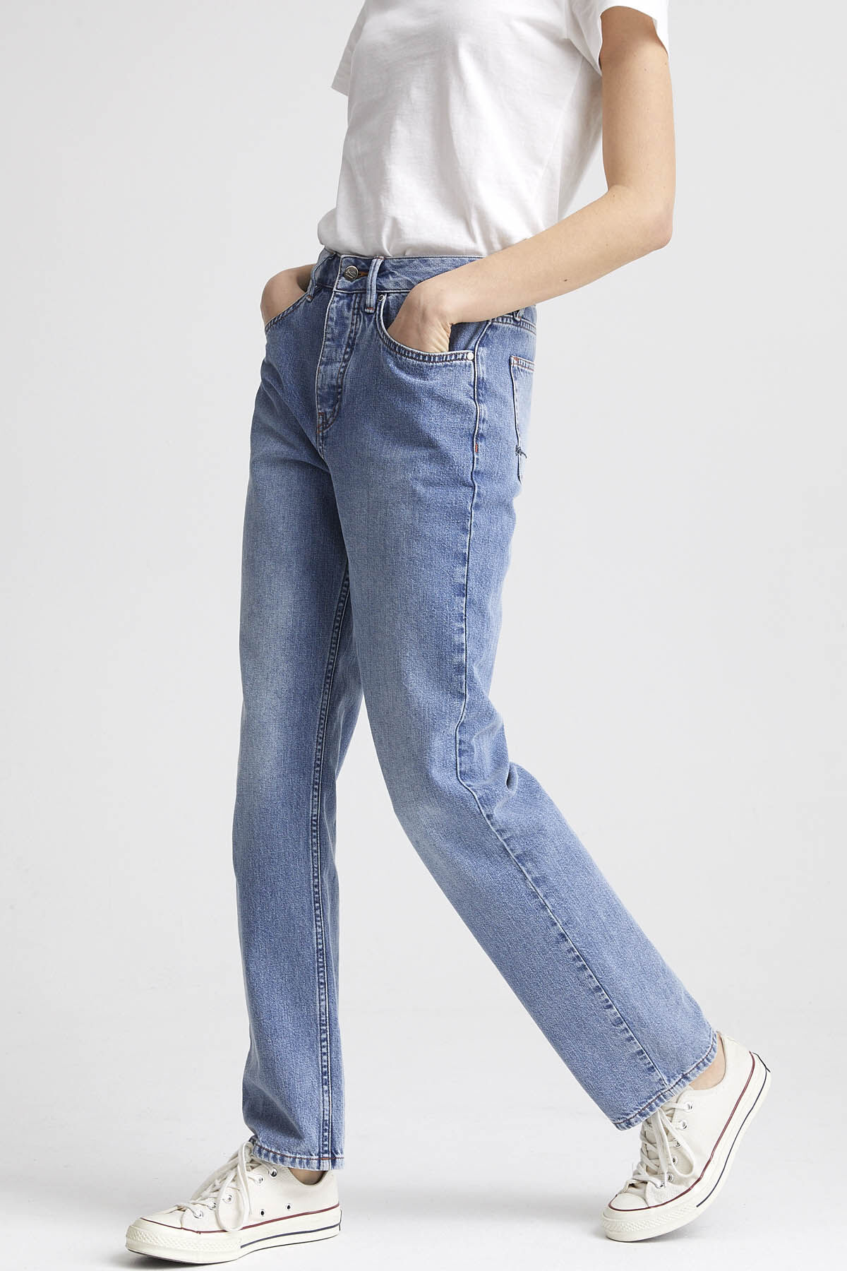 HALE JEAN Vintage Indigo Denim - High-rise Straight Fit