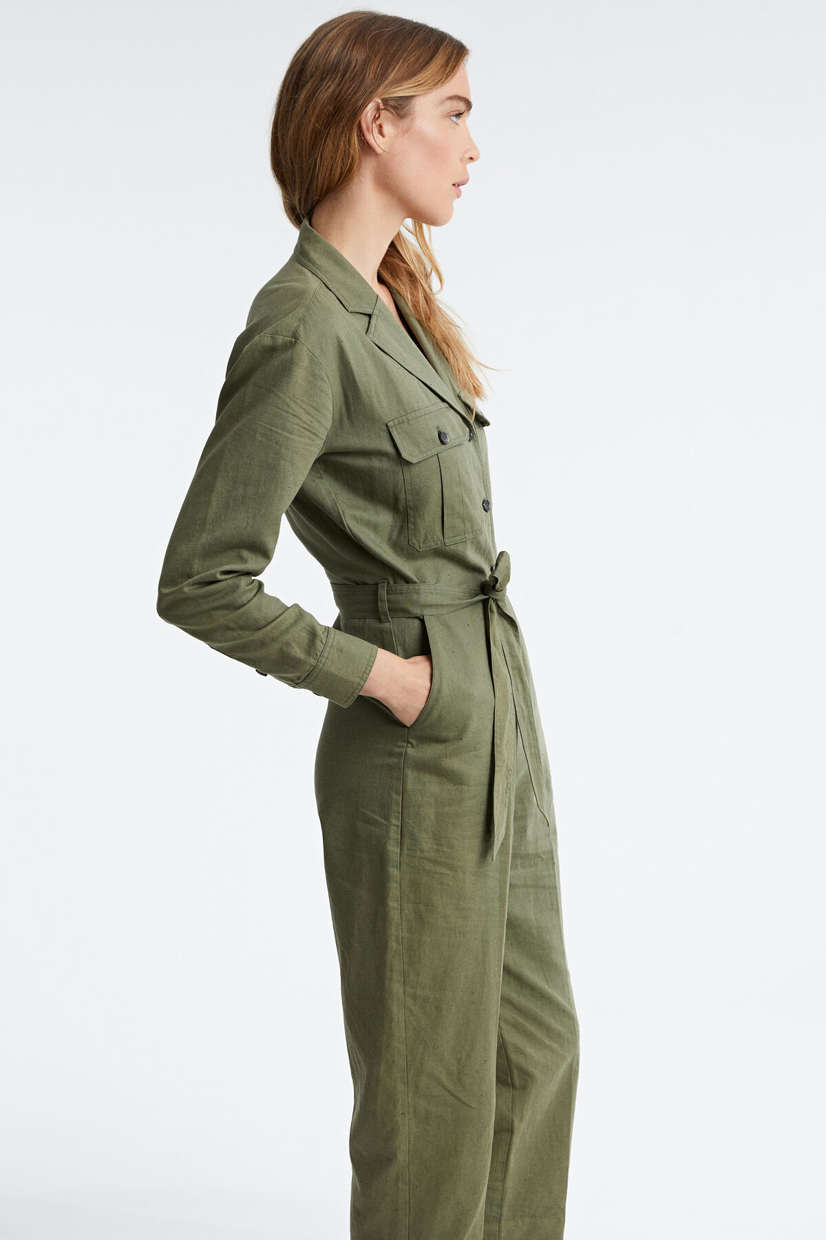 GALLOWAY JUMPSUIT Linen & cotton canvas blend - Relaxed Fit