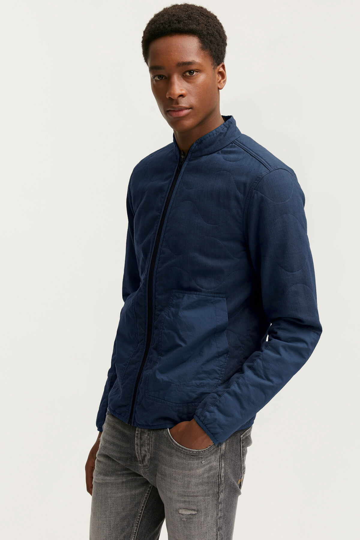 QUILTED OVERSHIRT Cotton outerhshell - Regular Fit