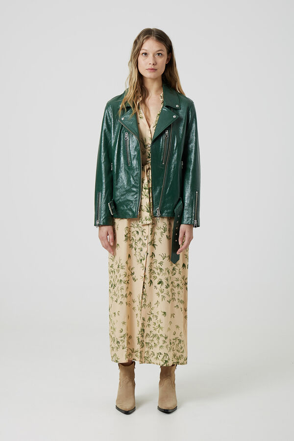 CABANA BIKER Patent leather - Oversized Fit