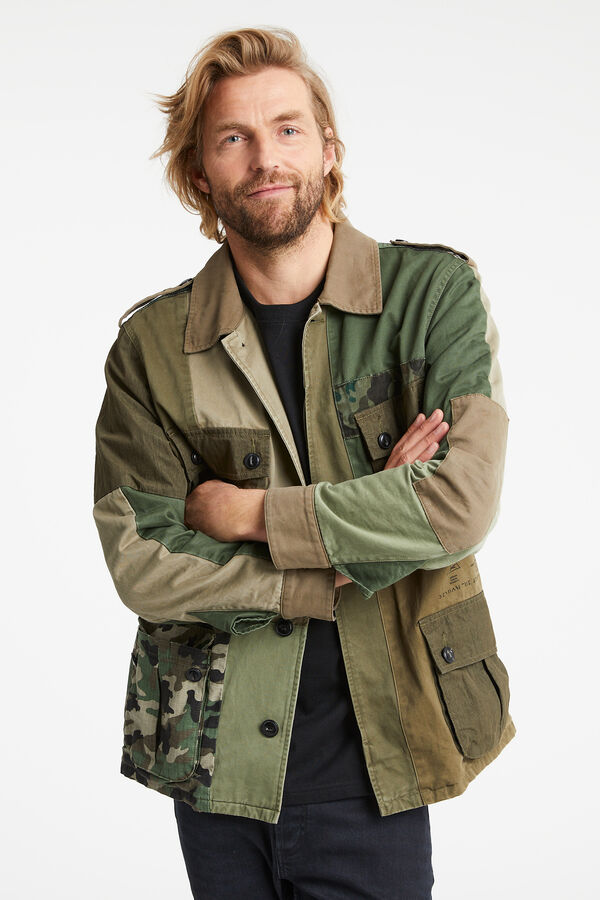 BELFIELD COMBAT PATCHWORK JACKET Camouflage  - Boxy Fit