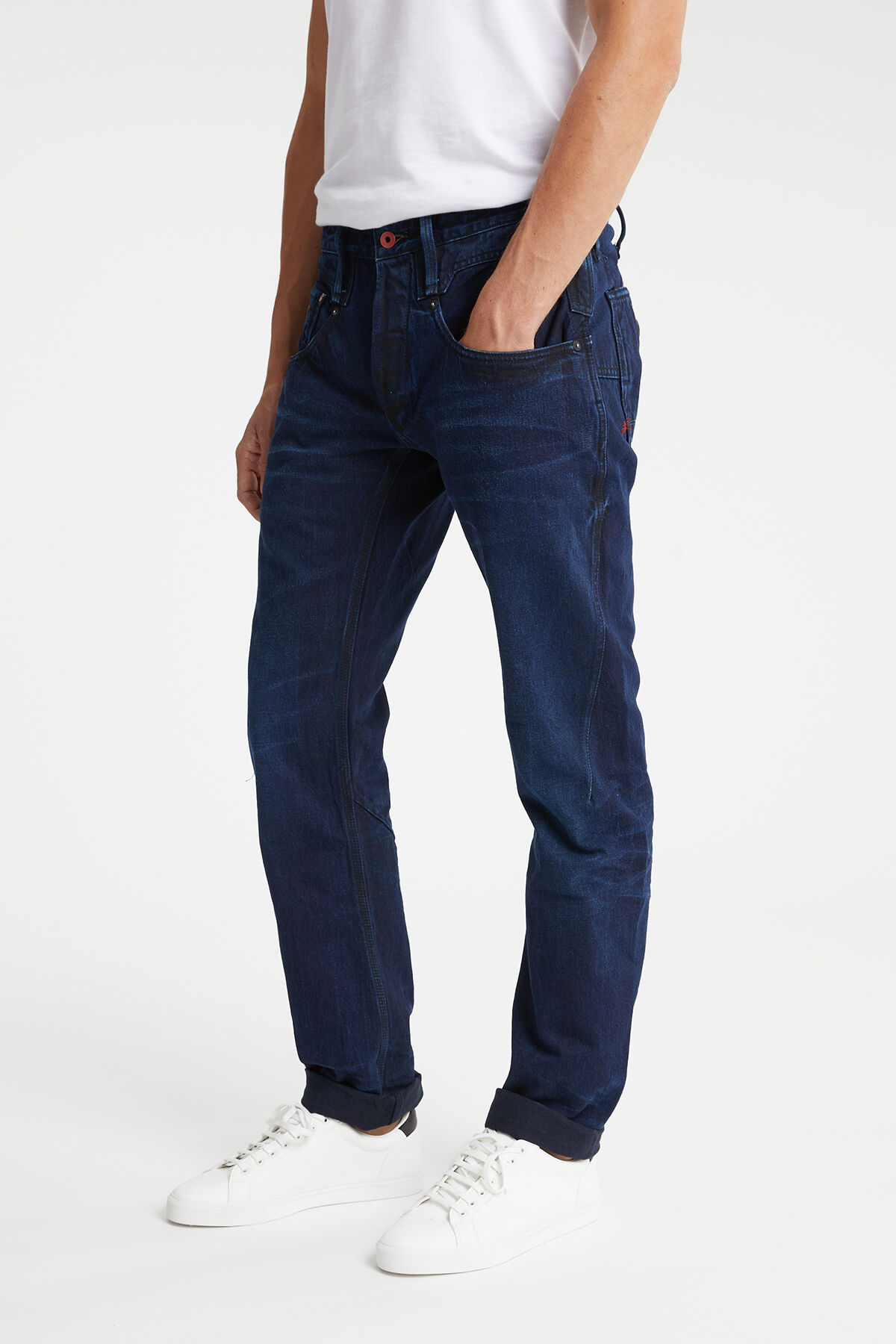 CROSSBACK Double-dyed Indigo Denim - Carrot Fit