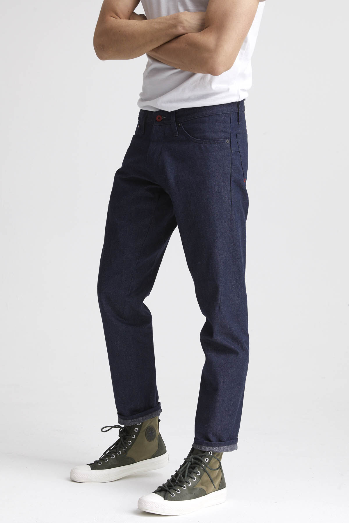 KINETIC Unwashed Recycled Cotton Denim - Tapered Fit