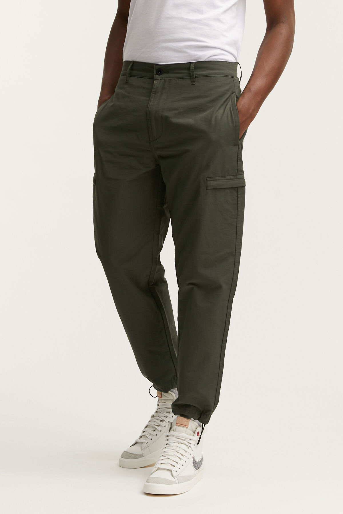 FRANCE CARGO PANT Cotton & Nylon Ripstop Fabric - Regular Fit