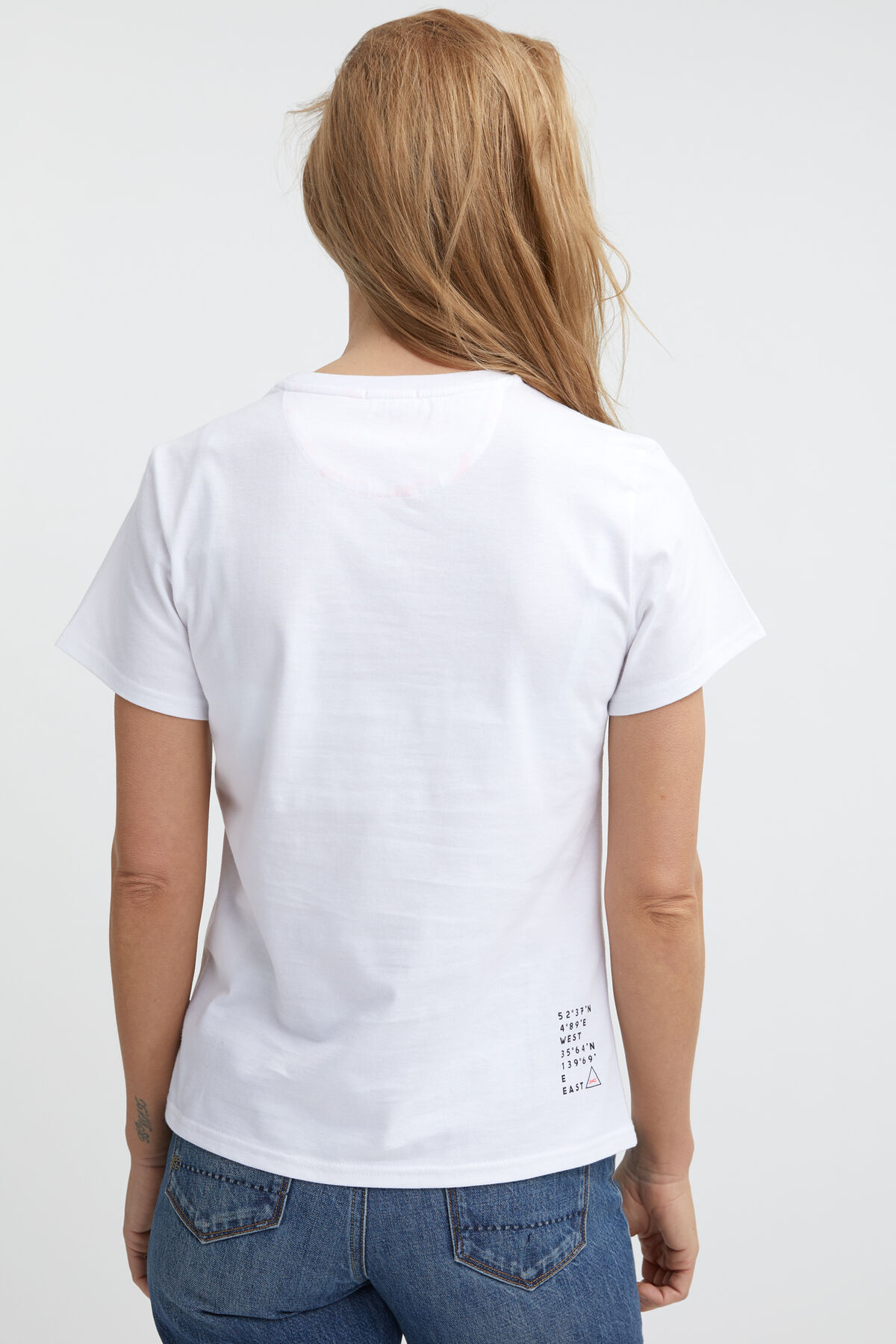 WOMENS 90 TEE DENHAM Logo Print - Regular Fit
