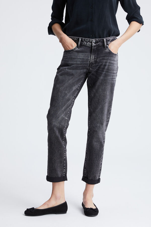 MONROE Three-Year Grey Denim  - Girlfriend Fit