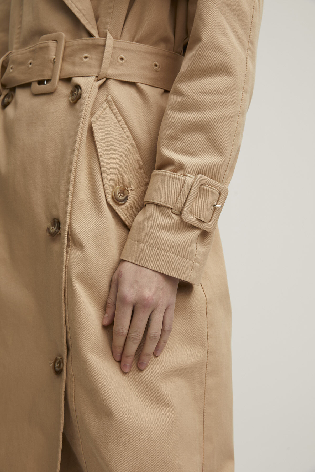 BELFAIRS TRENCH COAT Cotton Twill - Oversized Fit