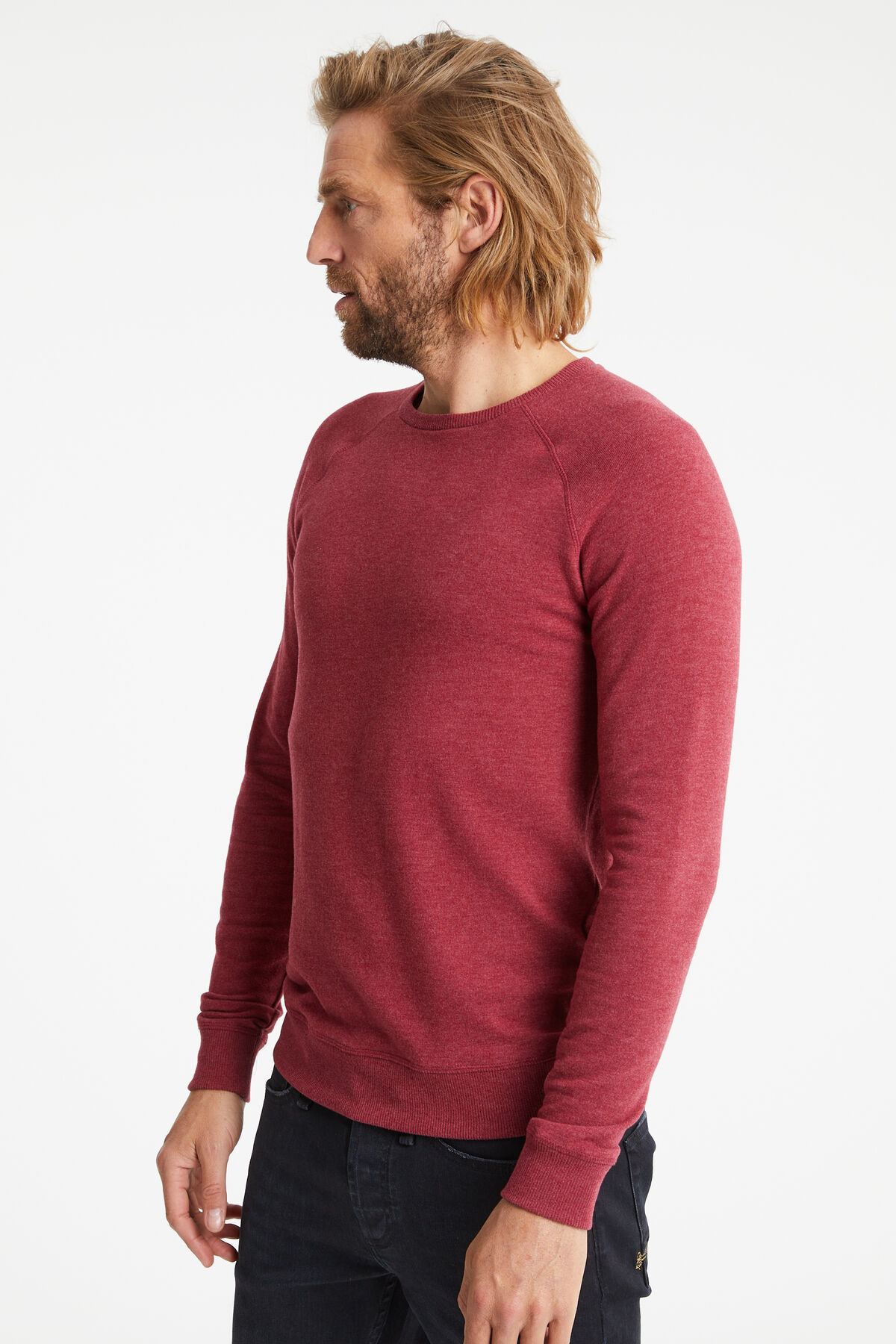 JV RAGLAN CREW Cotton Melange Jersey - Slim Fit