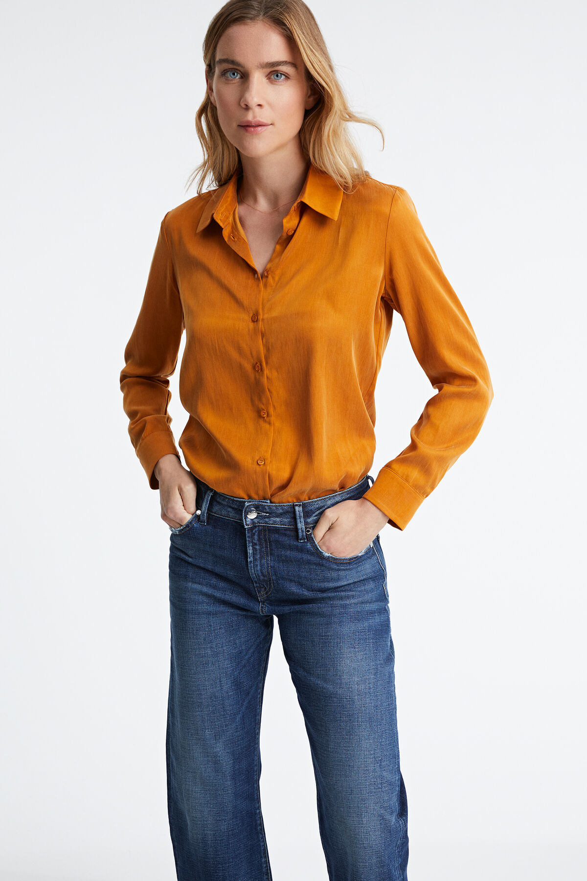 JESSIE SHIRT Essential cupro - Regular Fit