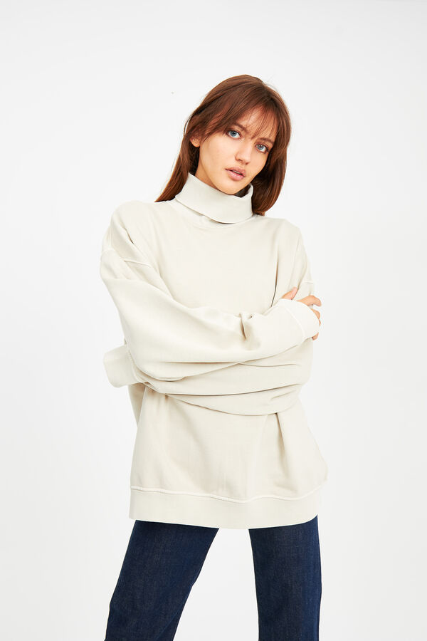 KUSSHARO ROLL NECK Brushed back Fleece - Oversized Fit